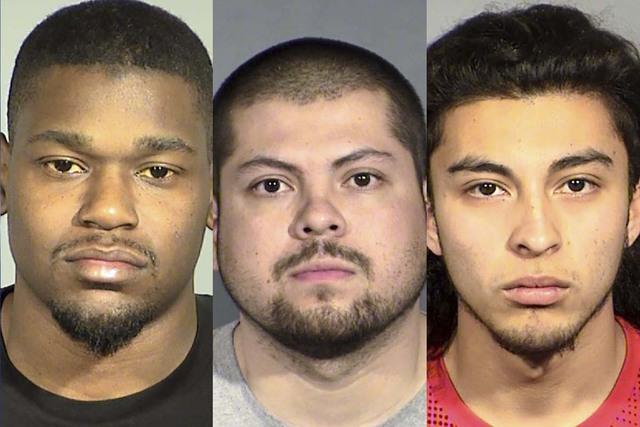 Jamarcus Harper, left, Aaron Lopez and Noah Gonzalez (Las Vegas Metropolitan Police Department)
