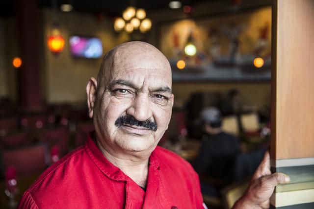 Chef Jiy Pal at Angara Indian Spice Grill on Saturday, Feb. 18, 2017, in Las Vegas. (Benjamin Hager/Las Vegas Review-Journal) @benjaminhphoto