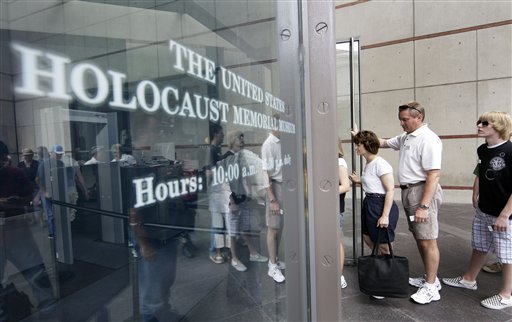People line up to enter the U.S. Holocaust Memorial Museum in Washington, D.C. Henderson's Esther Finder has worked for the museum to preserve the memory of Jewish Holocaust victims. (Alex Brandon ...