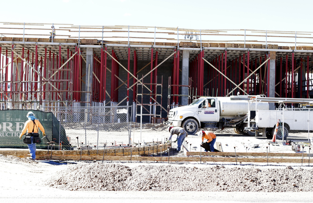 The under construction 295-unit rental apartment development site in Chinatown area on Wednesday, Feb. 22, 2017, in Las Vegas. (Bizuayehu Tesfaye/Las Vegas Review-Journal) @bizutesfaye