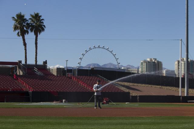 Earl E. Wilson Stadium before a UNLV baseball team practice on Tuesday, Feb. 14, 2017, in Las Vegas. (Erik Verduzco/Las Vegas Review-Journal) @Erik_Verduzco
