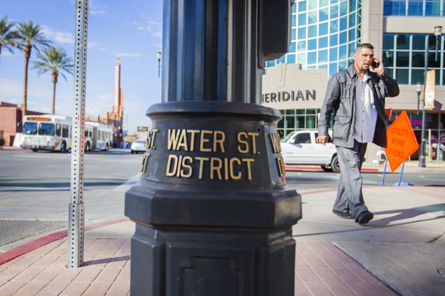The Henderson City Council unanimously approved a $10.6 million contract for street improvements in the downtown Water Street District. (Jeff Scheid/Las Vegas Review-Journal)