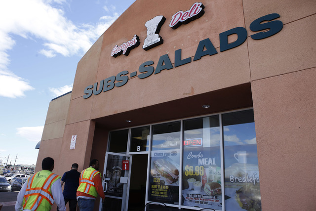 Customers walk into George's Italian Deli on Friday, Feb. 3, 2017, in Las Vegas. (Christian K. Lee/Las Vegas Review-Journal) @chrisklee_jpeg
