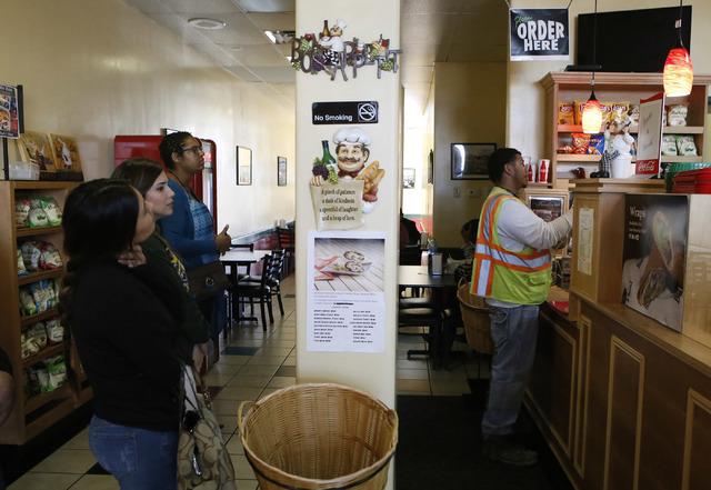 Customers order food at the George's Italian Deli on Friday, Feb. 3, 2017, in Las Vegas. (Christian K. Lee/Las Vegas Review-Journal) @chrisklee_jpeg