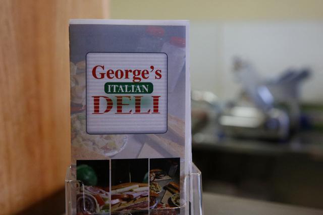 George's Italian Deli menu inside of the deli on Friday, Feb. 3, 2017, in Las Vegas. (Christian K. Lee/Las Vegas Review-Journal) @chrisklee_jpeg