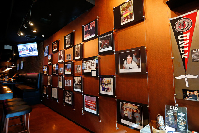 Historical pictures of Las Vegas community are posed on the wall at Bar Born and Raised on S. Cimarron Road in Las Vegas, Sunday, Jan. 29, 2017. (Chitose Suzuki/Las Vegas Review-Journal) @chitosephoto