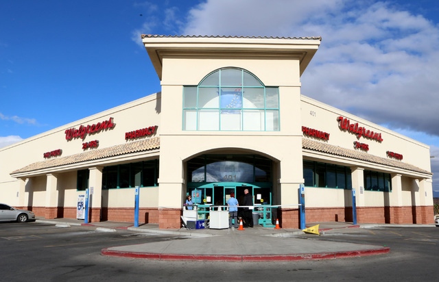 A man fled from Henderson police after trying to steal an ATM from a Walgreens at 401 N. Arroyo Grande Blvd. on Tuesday, Feb. 7, 2017, in Henderson. (Bizuayehu Tesfaye/Las Vegas Review-Journal) @b ...
