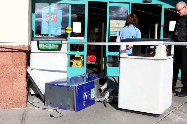 A man tried to steal an ATM machine from a Walgreens at 401 N. Arroyo Grande Blvd. in Henderson on Tuesday, Feb. 7, 2017. (Bizuayehu Tesfaye/Las Vegas Review-Journal) @bizutesfaye