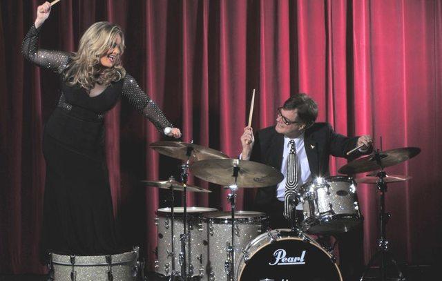Singer Elisa Fiorillo and drummer Bruce Harper. (Courtesy)