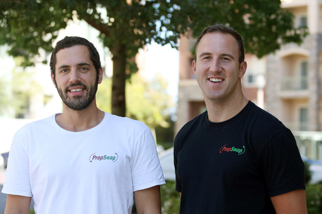 PropSwap founders Ian Epstein, left, and Luke Pergande, shown Friday, Sept. 9, 2016, will compete for Startup of the Year competition in San Jose, Calif. (Ronda Churchill/Las Vegas Review-Journal)