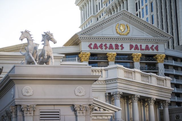 The exterior of Caesars Palace hotel-casino is shown in Las Vegas on Wednesday, May 18, 2016. (Chase Stevens/Las Vegas Review-Journal) @csstevensphoto