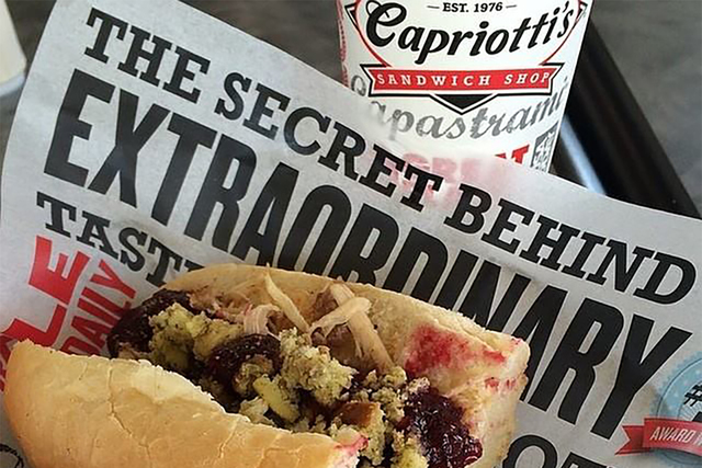 The Bobbie sandwich at Las Vegas-based Capriotti's. (Capriottis/Facebook)