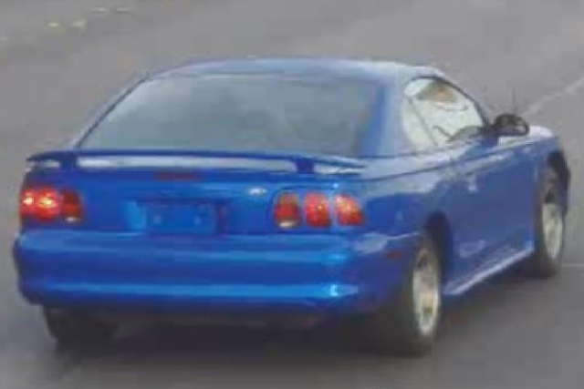 The pair has been known to drive two different vehicles, including an unregistered late-model blue Ford Mustang. (Las Vegas Metropolitan Police Department)