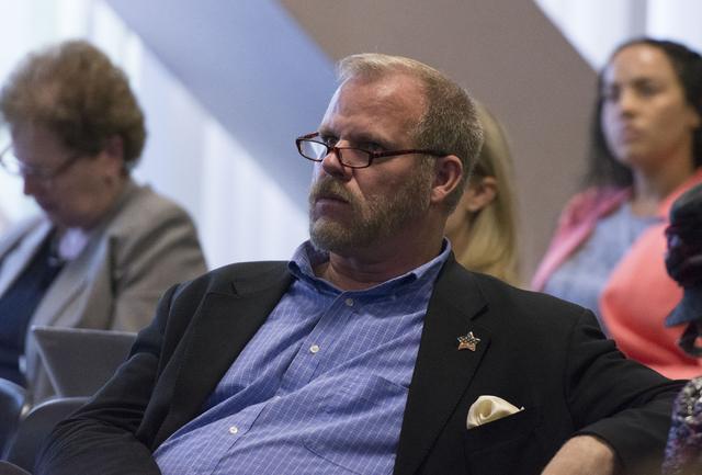 Clark County School District District D Trustee Kevin Child attends a legislative committee meeting in Las Vegas, July 1, 2016. (Jason Ogulnik/Las Vegas Review-Journal)