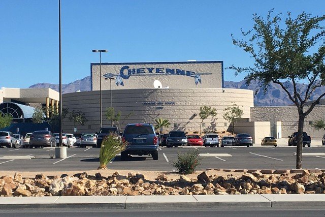Cheyenne High School, at 3200 W. Alexander Road. (Bizuayehu Tesfaye/Las Vegas Review-Journal Follow @bizutesfaye)