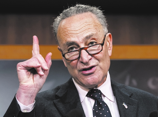 Senate Minority Leader Charles Schumer, D-N.Y. AP Photo/J. Scott Applewhite