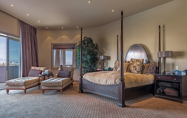 The master bedroom wraps around half the house and provides a 360-degree view. (DAVID REISMAN/REAL ESTATE MILLIONS)