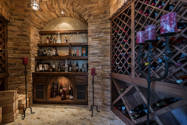 The wine cellar. (DAVID REISMAN/REAL ESTATE MILLIONS)