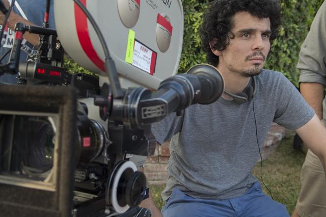 Director Damien Chazelle on the set of LA LA LAND. Photo Credit: Dale Robinette