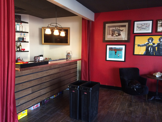 The lobby and bar area of The Space, opened by the non-profit Mondays Dark to serve as the home of its twice-monthly charity benefit productions. (Mike Weatherford Review-Journal).
