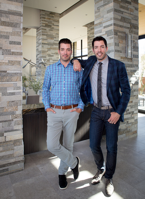 "Las Vegas residents TV stars ""The Property Brothers"" Drew and Jonathan Scott launched Dream Homes by Scott Living last month. (Tonya Harvey/Real Estate Millions)"
