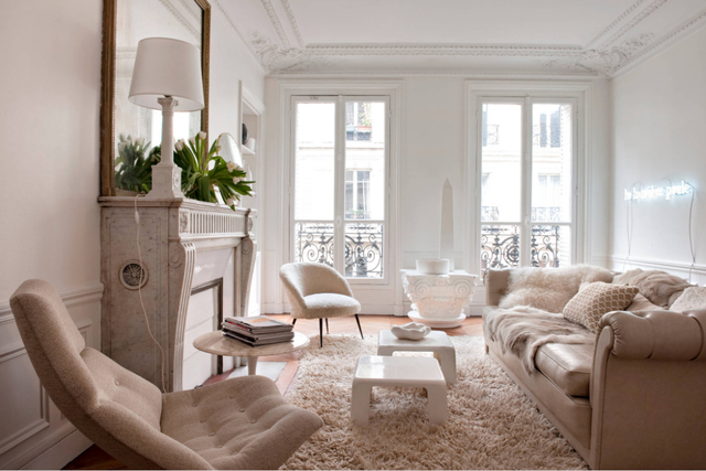 COURTESY This beautiful room has light colors but contrasts them with texture.