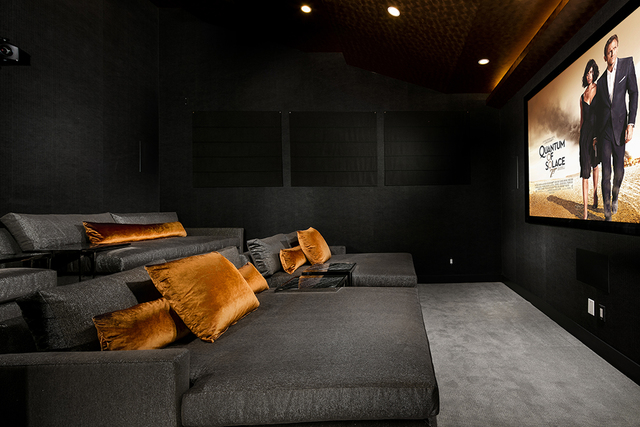 The home theater has comfortable seating. (Courtesy)