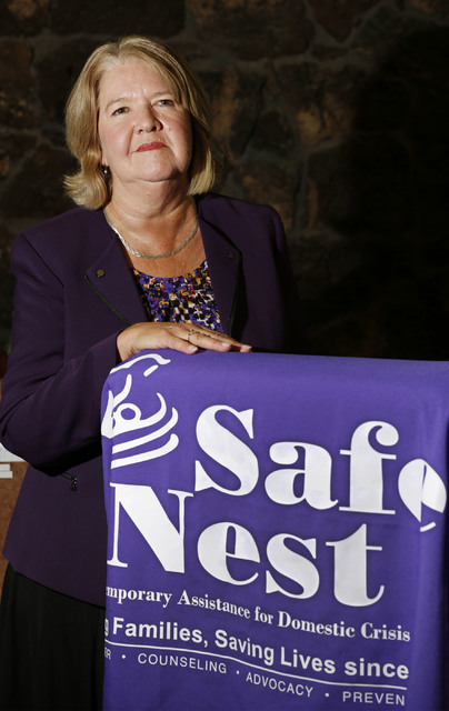 Safe Nest executive director Estelle Murphy in her office in Las Vegas, Thursday, Dec. 8, 2016. (Chitose Suzuki/Las Vegas Review-Journal) @chitosephoto