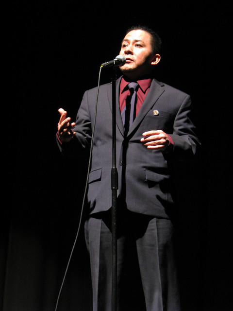 Nestor Gomez told his story about crossing the border into the United States as a child with his father, his three siblings and a family friend to escape war torn guatemala at The Moth Mainstage a ...