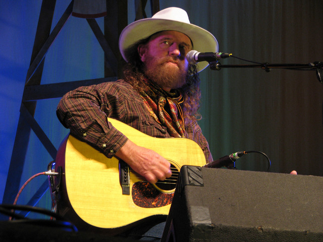 """Mike Beck performed in a set called """"Pouring 'Em Kinda Strong"""" Feb. 3, 2017 as part of the the National Cowboy Poetry Gathering at Elko Nev. (F. Andrew Taylor/Las Vegas Review ..."""