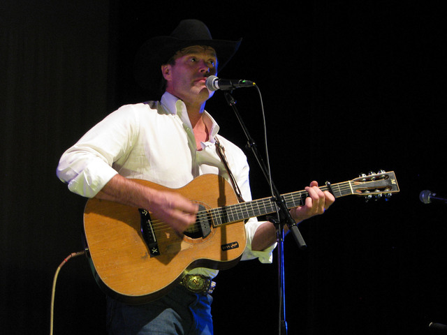 """Corb Lund headlined in a set called """"Pouring 'Em Kinda Strong"""" Feb. 3, 2017 as part of the the National Cowboy Poetry Gathering at Elko Nev. (F. Andrew Taylor/Las Vegas Review ..."""