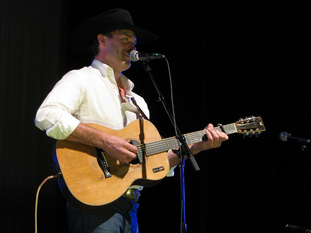 "Corb Lund sang songs performed his new song ""Albino Woman"" his  at a set called ""Pouring 'Em Kinda Strong"" Feb. 3, 2017 as part of the the National Cowboy Poetry ..."