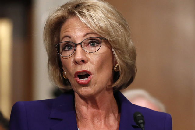 Education Secretary-designate Betsy DeVos. (Carolyn Kaster/AP)