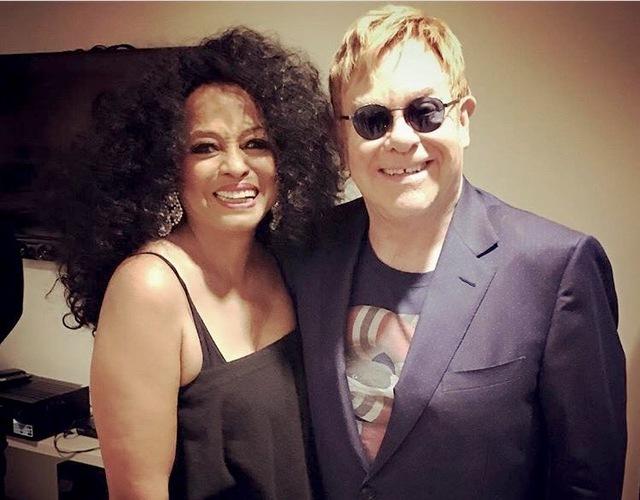 Diana Ross and Sir Elton John at The Venetian in Las Vegas. (Courtesy)