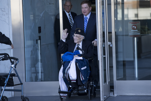 Dr. Henri Wetselaar, charged with money laundering, conspiracy to distribute Oxycodone and conspiracy to distribute controlled substances, is wheeled out of the Lloyd George U.S. Courthouse on Tue ...