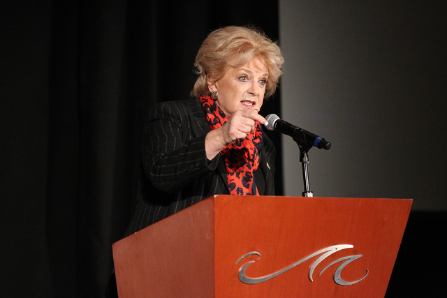 Las Vegas Mayor Carolyn Goodman, seen last month (Erik Verduzco/Las Vegas Review-Journal Follow @Erik_Verduzco)
