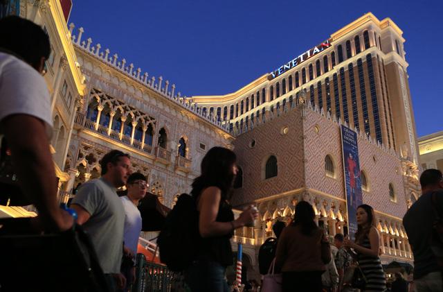 The Venetian on the Las Vegas Strip. (Thor Swift/Las Vegas Review Journal)