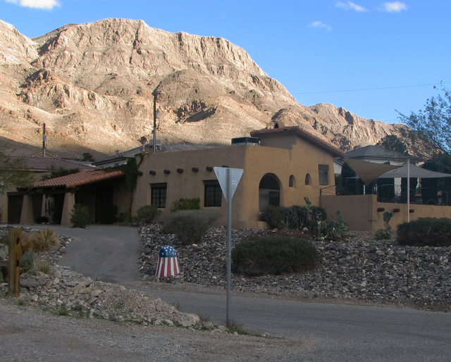 John Henry Hoffman had this classic New Mexico adobe home built on the foothills of Frenchman Mountain in the early '90s. He and his wife Gloria still  in the neighborhood. (F. Andrew Taylor/View) ...