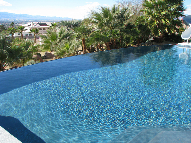 When the staff of Vegas Views remodeled the high-end rental home at the end of Probst Way they replaced the pool with an infinity pool. (F. Andrew Taylor/View) @FAndrewTPress