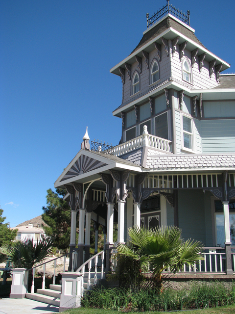 Architect Bob Larson was inspired by GlenMorey Country House, in Placerville Calif. To built the Victorian Home on Frenchman Mountain. (F. Andrew Taylor/View) @FAndrewTPress
