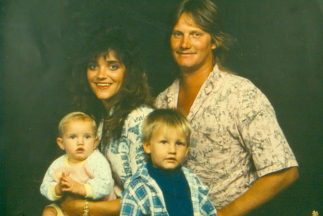 Randi Evers, bottom left, his father Mike Evers, his stepmother Tina Evers and his younger sister. (RJ file photo)