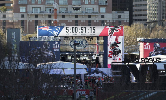 The 'Super Bowl Live' village on Avenida De Las Americas in Houston, Texas, hosts fans coming to enjoy the festivities leading up to the big game on Jan. 31, 2017. (Heidi Fang/Las Vegas Review-Jou ...