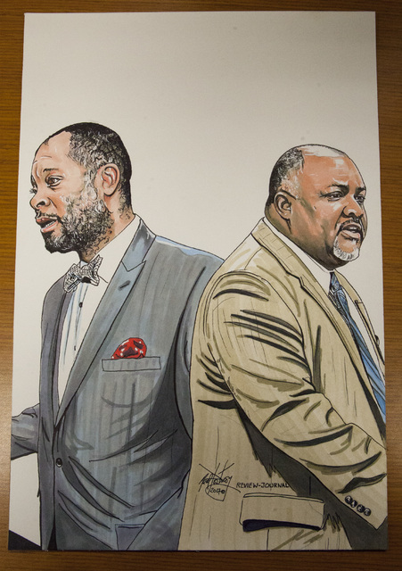 Aaron Ford and Jason Frietmanartwork by Las Vegas Review-Journal staff artist, Neal Portnoy. (Neal Portnoy/Las Vegas Review-Journal)