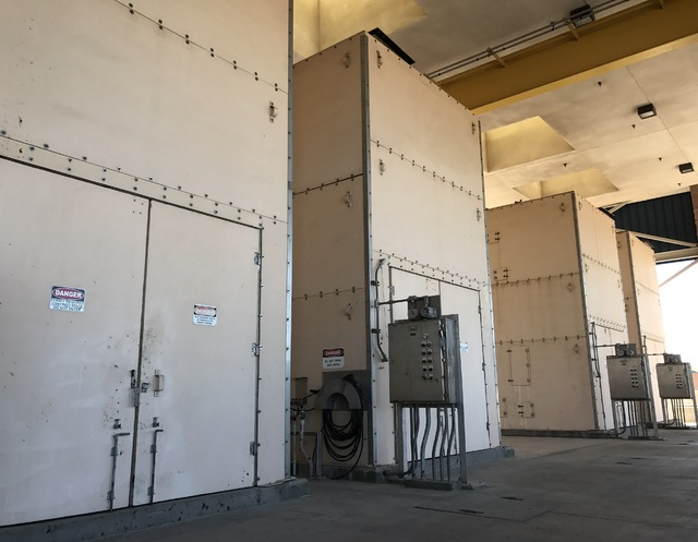 Four bar screen are pictured at the Clark County Water Reclamation District in Las Vegas on Tuesday Feb. 14, 2017. (Raven Jackson/Las Vegas Review-Journal) @ravenmjackson