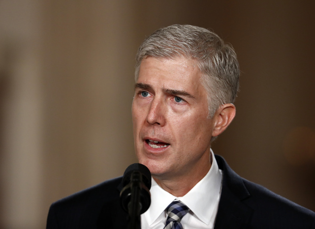 Neil Gorsuch. AP Photo/Carolyn Kaster, File