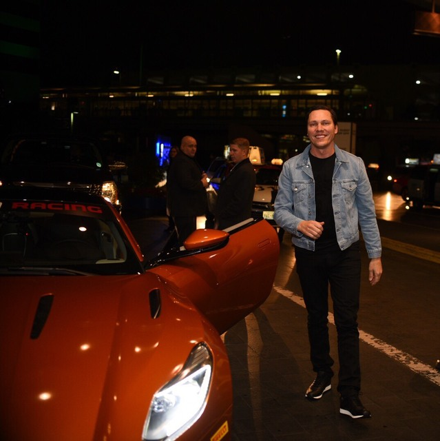 Superstar DJ Tiesto arrives at MGM Grand to accept his Key to the Strip on Saturday, Jan. 14, 2017, in Las Vegas. (Aaron Garcia)