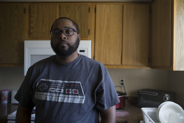 """Geoff """"Grant"""" Carlvin at his home on Wednesday, Jan. 25, 2017, in Las Vegas. Carlvin was diagnosed with multiple sclerosis three years ago. (Erik Verduzco/Las Vegas Review-Journa ..."""