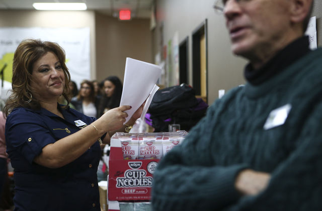 Project 150 Executive Director Meli Pulido, left, and Dave Levesque at the organization's location at 3600 N. Rancho Drive in Las Vegas on Thursday, Feb. 2, 2017. Project 150 provides local high s ...