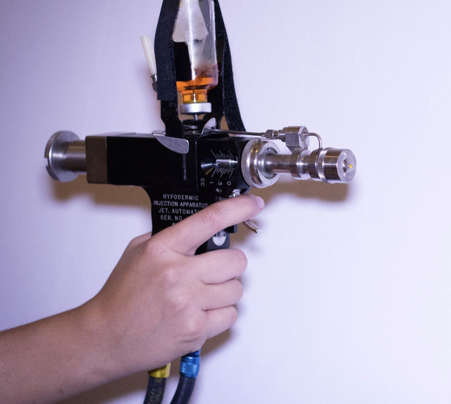 """Pictured is an example of a """"jet gun"""" that some Vietnam veterans and medical experts say caused them to contract hepatitis C. (Photo/Michael Montez via HCVets.com)"""