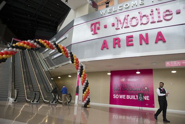 The Vegas Golden Knights 24-hour open house event at T-Mobile Arena, Tuesday, Feb. 21, 2017, in Las Vegas. The event was open for season ticket holders, prospective season ticket members and fans. ...
